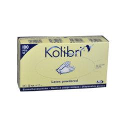 Gant latex poudré Kolibri® (Boîte de 100 pièces, taille L)